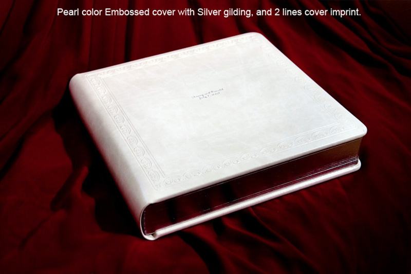 Studio album with Pearl color embossed cover with silver gilding and 2 lines cover imprint