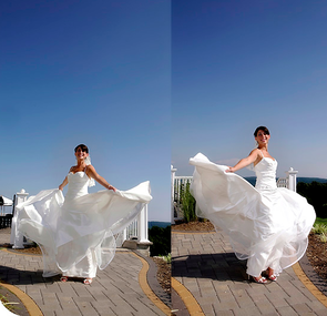 Spinning bride from testimonial of Laura Venos