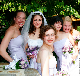 Bride and her bridesmaids from testimonial, Sarah Hammond.